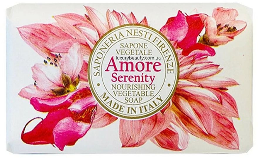 Savon végétal parfumé, Tubéreuse et Ylang-Ylang - Nesti Dante Amore Serenity Nourishing Vegetable Soap