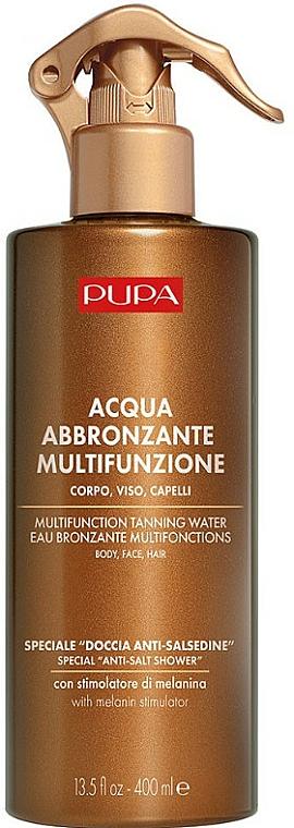 Eau auto-bronzante pour visage, corps et cheveux - Pupa Multifunzione Tanning Water — Photo N1