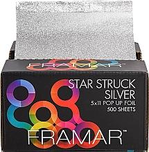 Parfums et Produits cosmétiques Feuilles gaufrées pour coloration des cheveux, 12,5 x 28 cm - Framar Star Struck Silver