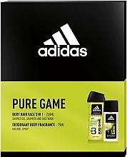 Parfums et Produits cosmétiques Adidas Pure Game - Set (eau de cologne/75ml + gel douche/250ml)