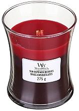 Parfums et Produits cosmétiques Bougie parfumée avec mèche en bois, Baies ensoleillées - WoodWick Hourglass Trilogy Candle Sun Ripened Berries