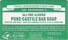 Parfums et Produits cosmétiques Savon à l'huile de coco et jojoba, Lavande - Dr. Bronner's Pure Castile Bar Soap Almond
