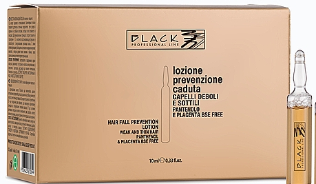 Lotion en ampoules au panthénol pour cheveux - Black Professional Line Panthenol & Placenta Lotion