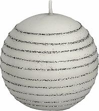 Parfums et Produits cosmétiques Bougie décorative, 8 cm, boule, blanc - Artman Andalo