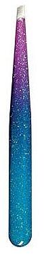Pince à épiler biseautée Epoxy Glitter, 75995, violet-bleu - Top Choice — Photo N1