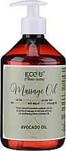 Parfums et Produits cosmétiques Huile de massage à l'huile d'avocat - Eco U Avocado Massage Oil