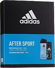 Parfums et Produits cosmétiques Adidas After Sport - Set (déodorant spray pour corps/150ml + gel nettoyant pour visage, corps et cheveux/250ml)