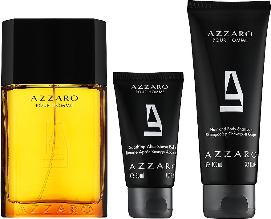 Azzaro Pour Homme - Coffret (eau de toilette/100ml + shampooing pour cheveux et corps/100ml + baume après-rasage/50ml) — Photo N2