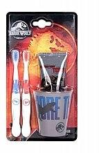 Parfums et Produits cosmétiques Corsair Jurassic World - Set(dentifrice/75ml + brosse à dents/2pcs. + tasse )