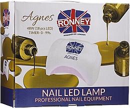 Parfums et Produits cosmétiques Lampe LED, noir - Ronney Profesional Agnes Pro LED 48W (GY-LED-032)