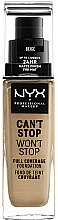 Parfums et Produits cosmétiques Fond de teint couvrant - NYX Professional Makeup Can't Stop Won't Stop Full Coverage Foundation