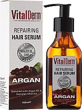 Parfums et Produits cosmétiques Sérum à l'huile d'argan et complexe de vitamines pour cheveux - VitalDerm Argana