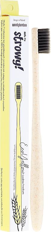 Brosse à dents de blé, medium - WoodyBamboo Toothbrush EcoYellow Medium