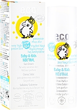 Parfums et Produits cosmétiques Crème solaire sans parfum pour peaux très sensibles - Eco Cosmetics Baby&Kids Sun Protection Cream SPF 50+