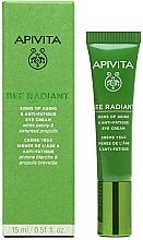 Parfums et Produits cosmétiques Crème à la pivoine blanche et propolis pour contour des yeux - Apivita Bee Radiant Signs Of Aging & Anti-Fatigue Eye Cream