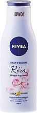Parfums et Produits cosmétiques Baume à la rose et huile d'argan pour corps - Nivea Balm With Rose & Argan Oil