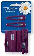Parfums et Produits cosmétiques Barrettes et élastiques pour cheveux, 2+12 pcs - Top Choice