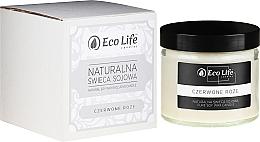 Parfums et Produits cosmétiques Bougie parfumée en cire de soja, Rose rouge - Eco Life Candles