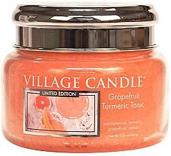 Parfums et Produits cosmétiques Bougie parfumée en jarre - Village Candle Grapefruit Turmeric Tonic Glass Jar
