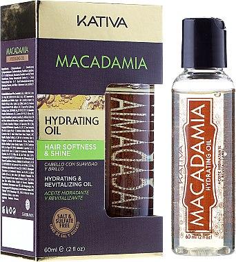 Huile à l'huile de macadamia pour cheveux - Kativa Macadamia Hydrating Oil — Photo N1