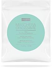 Parfums et Produits cosmétiques Masque tissu à l'extrait d'iris pour visage - Pupa Maschera Opacizzante Viso