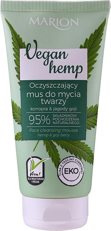 Mousse lavante à l'huile de chanvre et baie de goji pour visage - Marion Vegan Hemp Hemp & Goji Face Cleansing Mousse