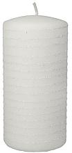 Parfums et Produits cosmétiques Bougie décorative blanche, 7x14 cm - Artman Candle Andalo