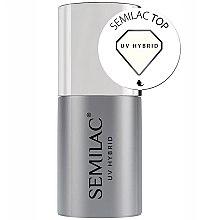 Parfums et Produits cosmétiques Top coat pour vernis semi-permanent - Semilac UV Hybrid