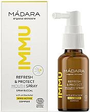 Parfums et Produits cosmétiques Spray rafraîchissant pour l'hygiène bucco-dentaire - Madara Cosmetics IMMU Refresh & Protect Mouth Spray