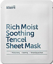 Parfums et Produits cosmétiques Masque tissu aux céramides pour visage - Klairs Rich Moist Soothing Tencel Sheet Mask