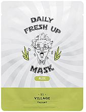 Parfums et Produits cosmétiques Masque tissu à l'extrait d'aloe vera pour visage - Village 11 Factory Daily Fresh Up Mask Aloe
