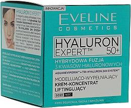 Parfums et Produits cosmétiques Crème-concentré de jour et nuit liftante à l'acide hyaluronique - Eveline Cosmetics Hyaluron 50+