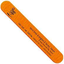 Parfums et Produits cosmétiques Mini lime à ongles double face, 180/240, néon orange - Peggy Sage 2-Way Mini Nail File
