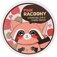 Parfums et Produits cosmétiques Patchs hydrogel à l'extrait de pamplemousse pour joues et contour des yeux - Secret Key Pink Racoony Hydro-Gel Eye & Cheek Patch