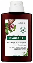 Parfums et Produits cosmétiques Shampooing à la quinine et edelweiss bio - Klorane Force Tired Hair & Hair Loss Shampoo with Organic Quinine and Edelweiss