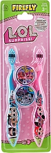 Parfums et Produits cosmétiques Ep Line LOL Surprise - Set brosses à dents souples, bleu + rose (brosse à dents/2pcs + capuchon/2pcs)