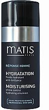 Parfums et Produits cosmétiques Fluide hydratant anti-brillance visage - Matis Reponse Homme Moisturising Shine Control Hydrating Emulsion