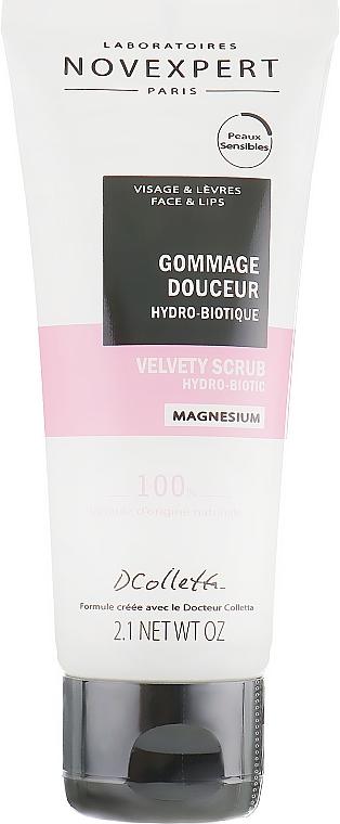 Gommage hydro-biotique pour visage et lèvres - Novexpert Magnesium Velvety Scrub Hydro-Biotic