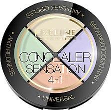 Parfums et Produits cosmétiques Palette de correcteurs colorés pour visage - Eveline Cosmetics Concealer Sensation 4in1