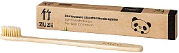 Parfums et Produits cosmétiques Brosse à dents en bambou avec poils souples, beige - Zuzii Soft Toothbrush