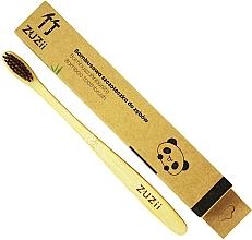 Parfums et Produits cosmétiques Brosse à dents en bambou avec poils souples, marron - Zuzii Soft Toothbrush