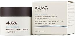 Parfums et Produits cosmétiques Soin de jour au jus d'aloe vera - Ahava Time To Hydrate Essential Day Moisturizer Very Dry Skin