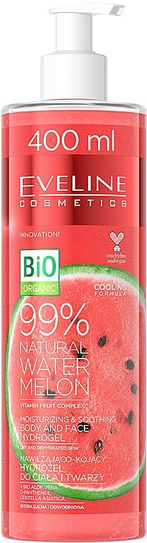 Hydrogel pour visage et corps Pastèque - Eveline Cosmetics 99% Natural Watermelon