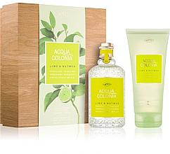 Maurer & Wirtz 4711 Aqua Colognia Lime & Nutmeg - Coffret cadeau (eau de cologne 170 ml + gel douche 200 ml) — Photo N1
