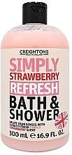 Parfums et Produits cosmétiques Gel bain et douche Fraise - Creightons Simply Strawberry Refresh Bath & Shower