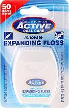 Parfums et Produits cosmétiques Fil dentaire à la menthe - Beauty Formulas Active Oral Care Expanding Floss Mint With Fluor 50m