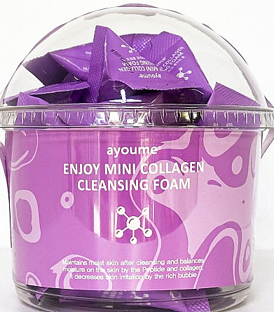 Mousse nettoyante au collagène pour visage (sachets) - Ayoume Enjoy Mini Collagen Cleansing Foam — Photo N1