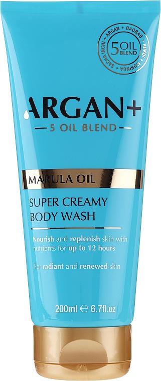 Gel douche crémeux à l'huile de marula - Argan+ Super Creamy Body Wash