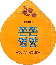 Parfums et Produits cosmétiques Masque de nuit à l'extrait de lentille pour visage - Holika Holika Superfood Capsule Lentils