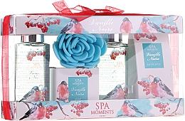 Parfums et Produits cosmétiques Spa Moments Vanille Noire - Set(gel douche/2x100ml + sels de bain/50g + savon/50g + fleur de bain)